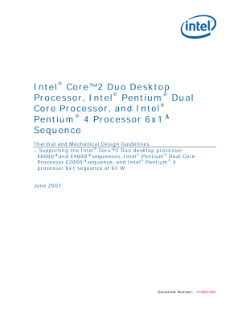 Intel® Core™ 2 Duo, Intel® Pentium® Dual-Core, Thermal Design