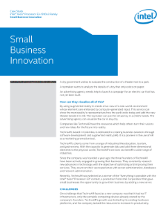 Small Business Innovation on the Intel® Xeon® Processor