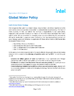 Intel Water Policy