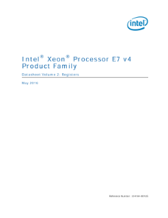 Intel® Xeon® Processor E7-8800/4800 v4 Family Datasheet, Vol. 2