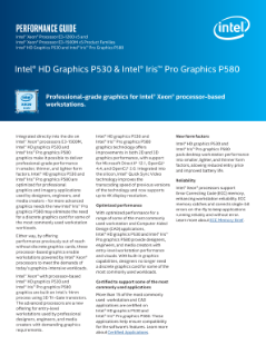 Intel® HD Graphics P530 and P580 Performance Guide