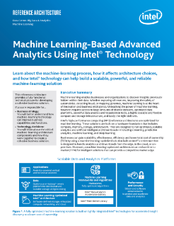 Machine Learning and Advanced Analytics
