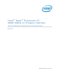 Intel® Xeon® Processor E7-8800 Thermal Guide
