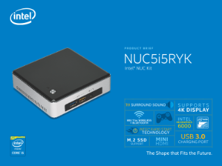 Intel® NUC Kit NUC5i5RYK Product Brief