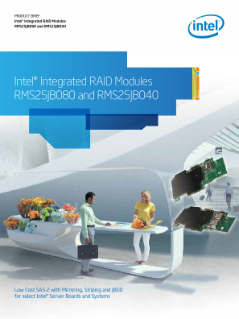 Prod uct Brief  Intel® Integrated RAID Modules  RMS25JB080 and RMS25JB040