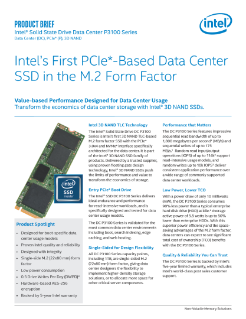 Intel® SSD Data Center P3100 Series M.2 Form Factor Product Brief