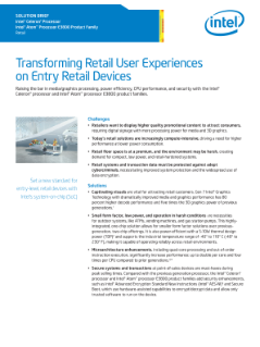 Transforming Retail User Experiences on Entry Devices